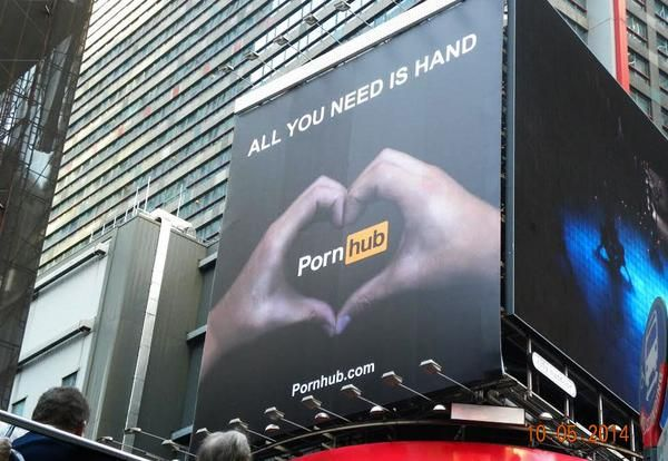pornhub crowdsourcing publicitaire time square