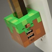 Minecraft Redstone Torch Usb Wall Charger Minecraft Redstone Minecraft Bedroom Minecraft Room