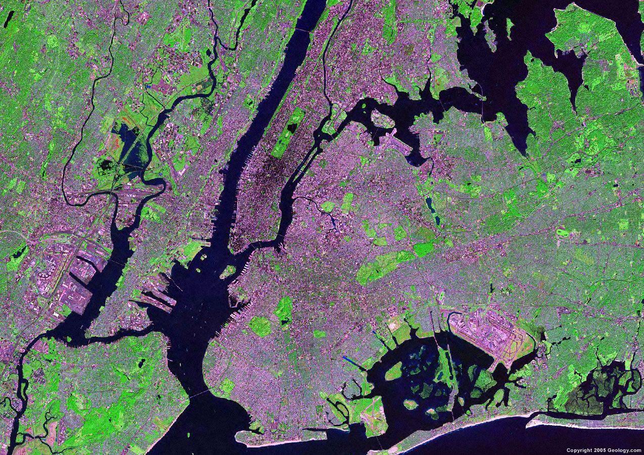 New York City Satellite Map Duplex Pinterest - Nyc radar map