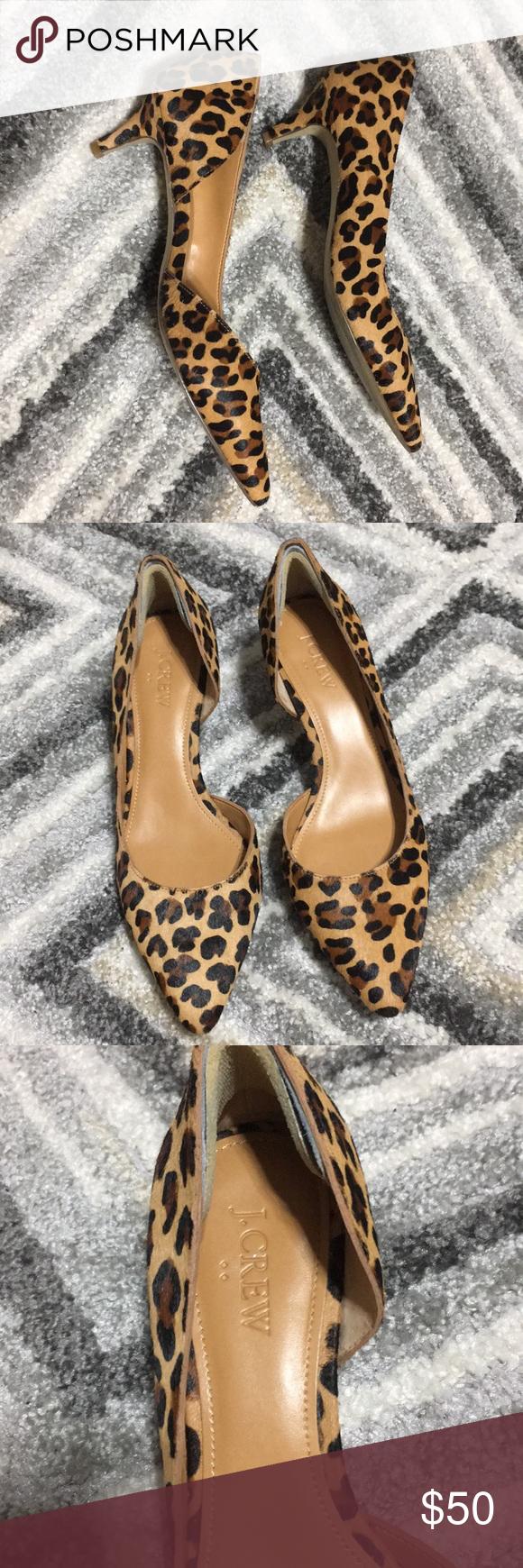 Jcrew Factory Leopard Kitten Heels Kitten Heels Heels Jcrew Factory