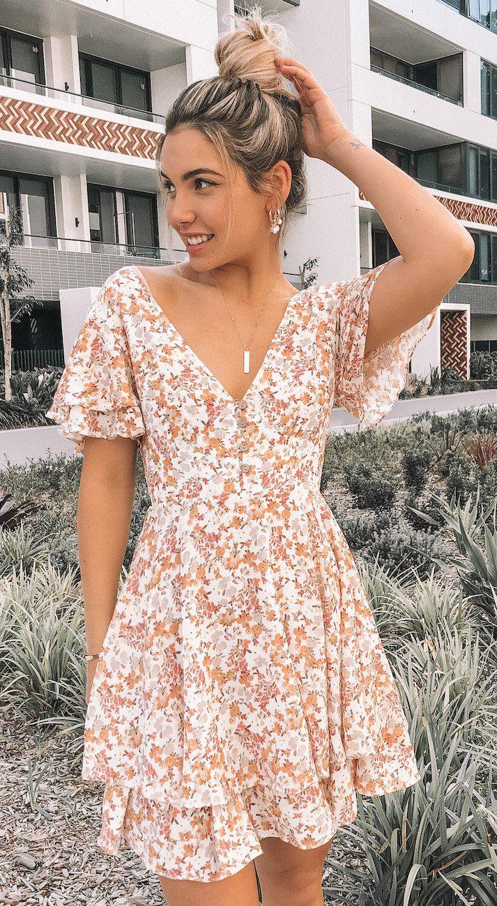 Flustered Dress - Pink Print