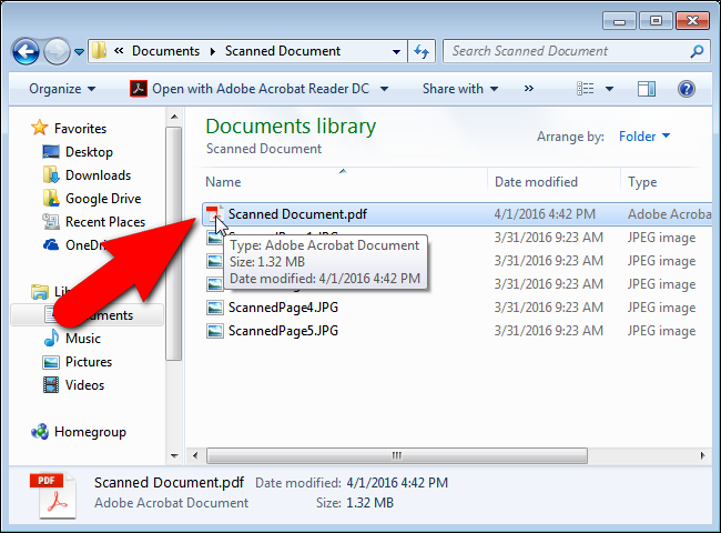 How To Combine Images Into One Pdf File In Windows Pdf Documents Organization Tech Time