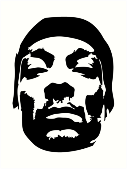 Snoop Dogg Black Design Art Print By Happymidget Silhouette Art Hip Hop Artwork Hip Hop Art