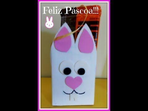 Especial de Páscoa #1 Coelhinho de caixa de leite e E.V.A - YouTube