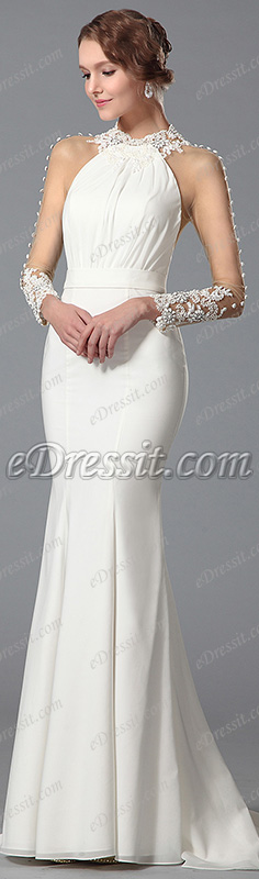 stylish white formal gown! #edressit #dress #gown #fashion #formal_gown