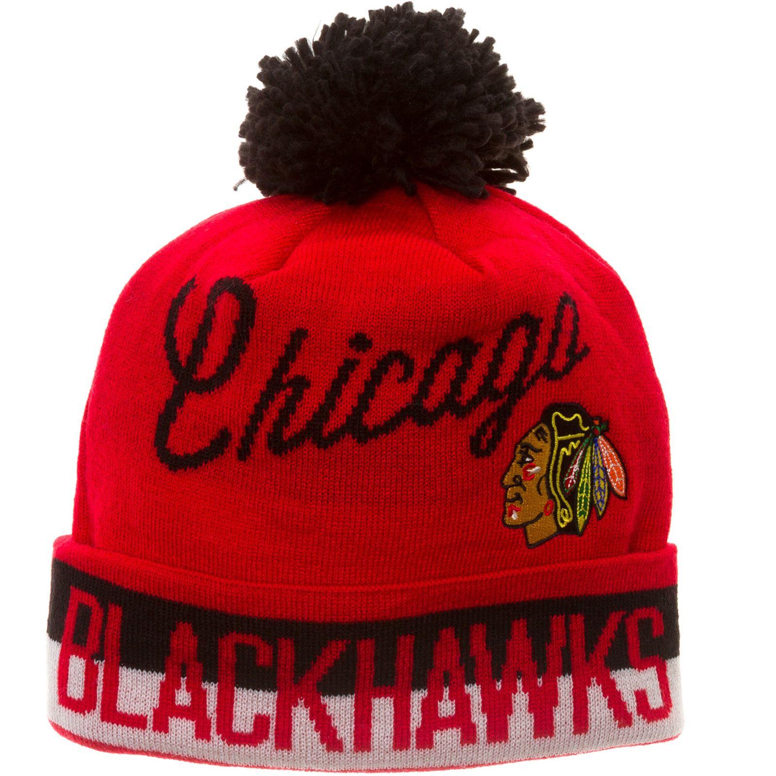 eeadb394b2a Chicago Blackhawks CCM Red Vintage Cuffed Knit Hat with Pom  Chicago   Blackhawks  ChicagoBlackhawks