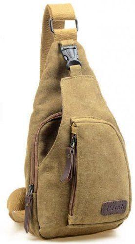 Men/'s Canvas Unbalance Backpack Single Shoulder Sling Chest Hiking Bike Bag
