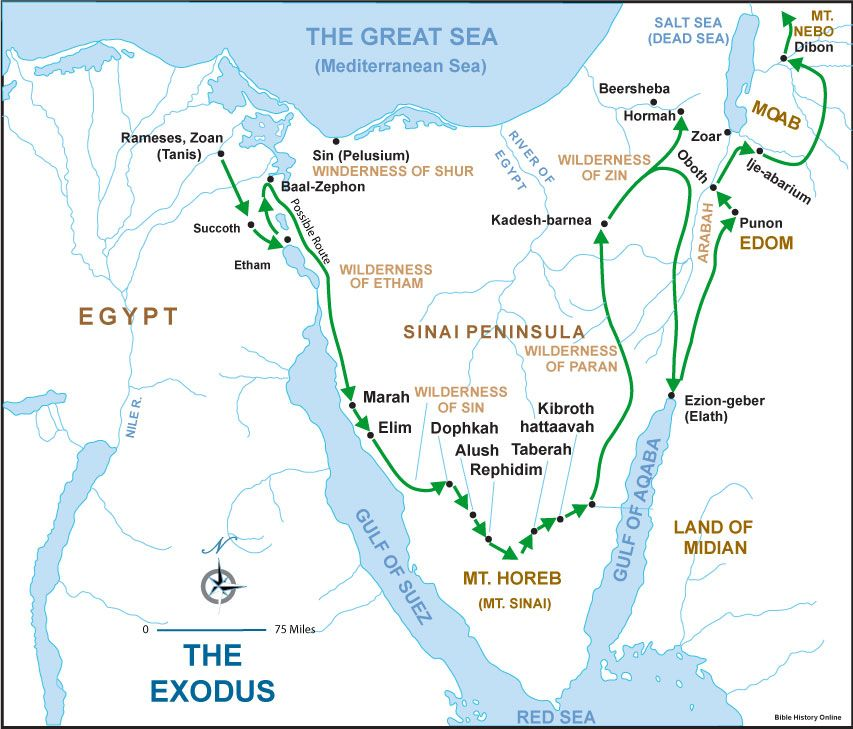 After The Children Of Israel Received The Laws At Mount Sinai - Map of egypt during exodus