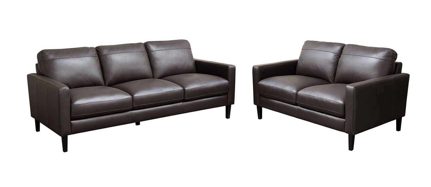 Super Diamond Sofa Omega Full Leather Sofa Loveseat 2Pc Set Gmtry Best Dining Table And Chair Ideas Images Gmtryco