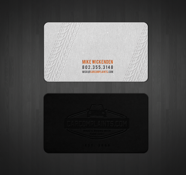 Carcomplaints business card stainless steel letterpress by carcomplaints business card stainless steel letterpress by jecakp reheart Images