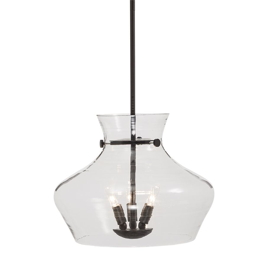 Lowes Pendant Lighting Captivating Shop Allen  Roth 1602In W Aged Bronze Pendant Light With Clear Inspiration Design