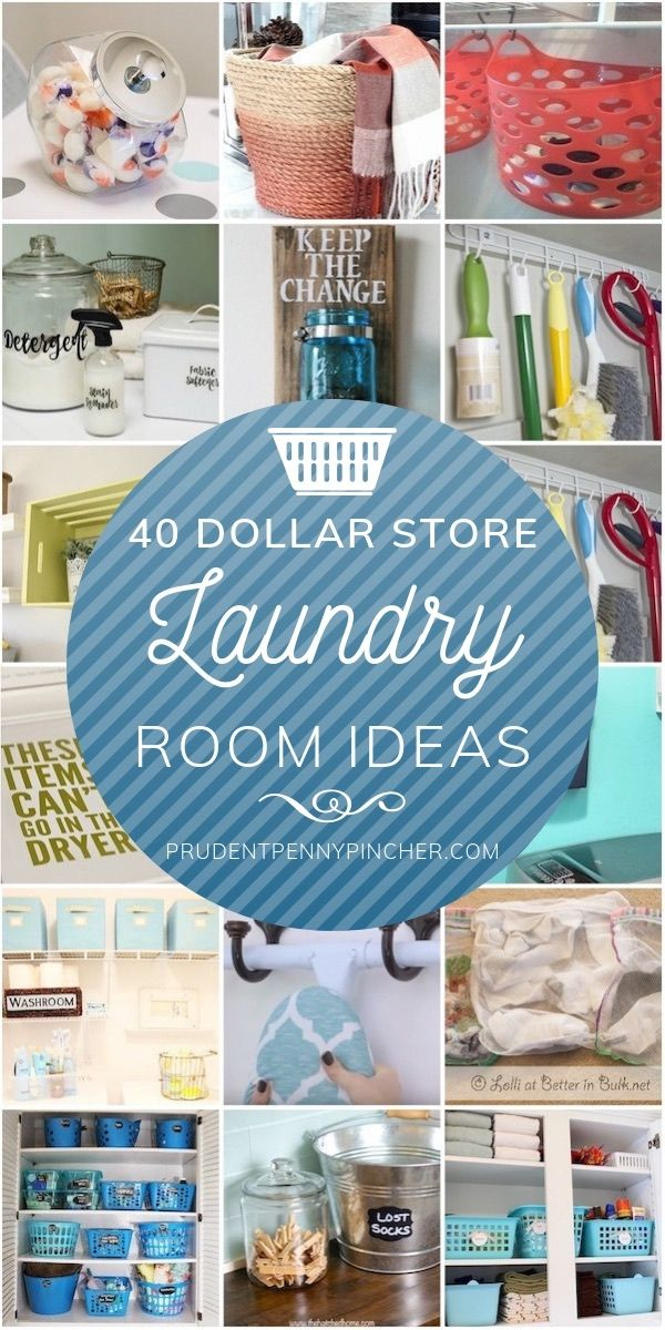 50 Dollar Store DIY Laundry Room Ideas