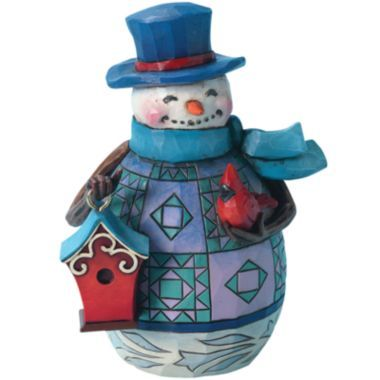 Jim Shore Snowman with Birdhouse Christmas Figurine