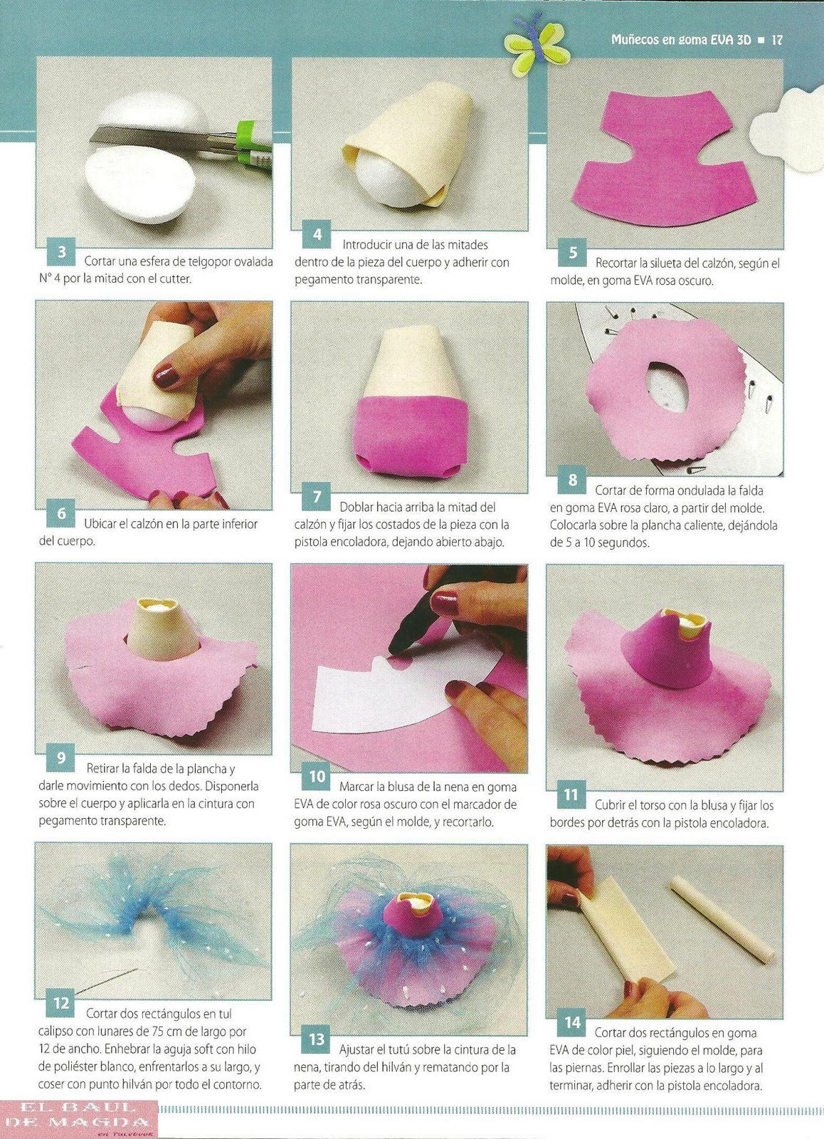 Fofucha em Eva… | fomi | Dolls, Foam crafts y Crafts
