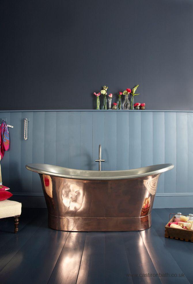 BATHROOM PALETTE - copper   Pinterest   Bathtub, Bath and Iron