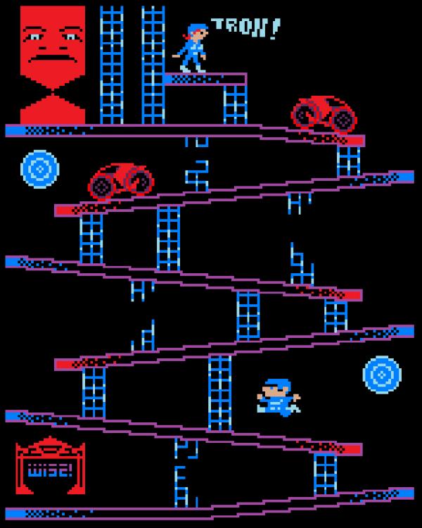 Tron, Donkey Kong style.