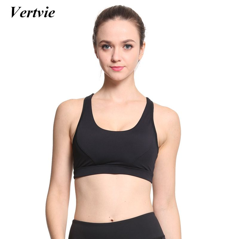 2c4df9fc49 Vertvie Women Sports Bras Braided Rope Hollow Out Yoga Bra Breathable Quick  Dry Shockproof Elastic Fitness