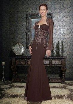 meerjungfraustil new design falte bustband brosche applikationen dunkelbraun…  kleider schöne