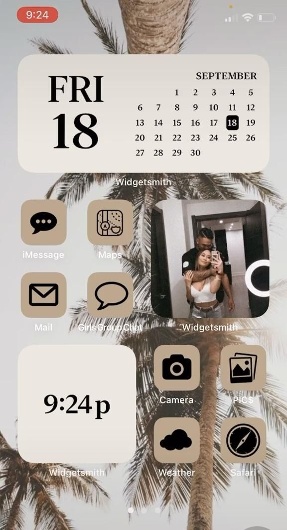 iOS14 phone aesthetic Home Screen! iOS14 phone aes