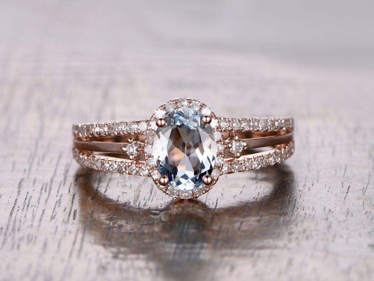 aquamarine wedding rings diamond engagement ring 14k white gold