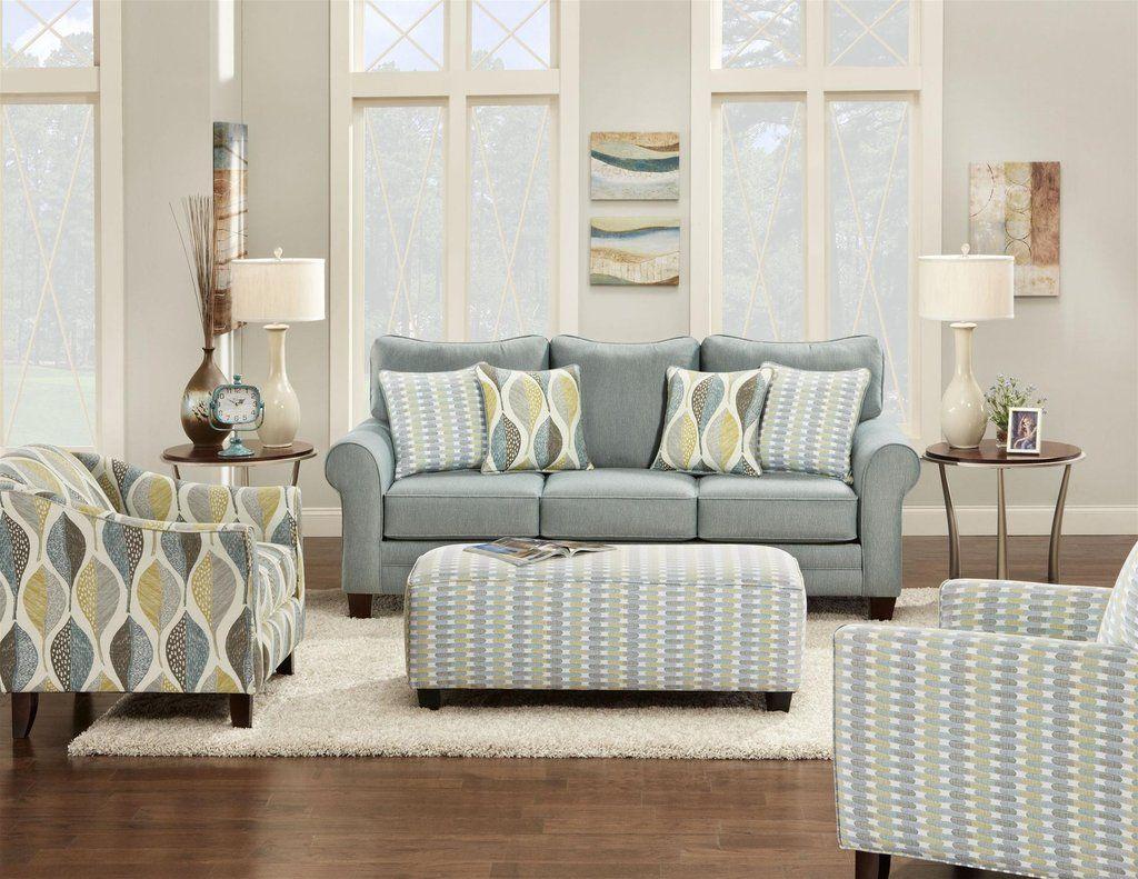 fusion decade aqua sofa and loveseat stationary living room sets rh pinterest com