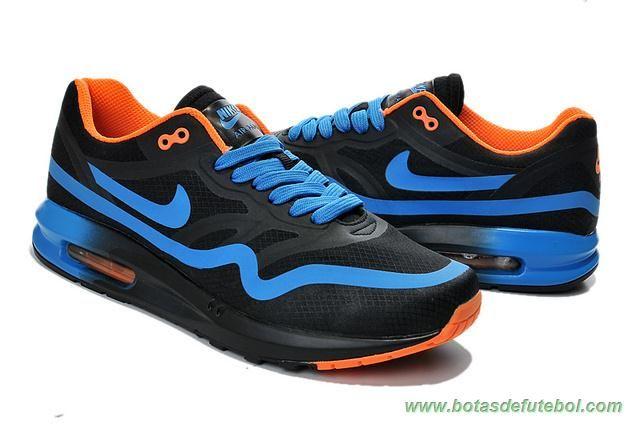 d99493bd70d onde comprar online Masculino Nike Air Max 87 Preto Azul Laranja 652989-301