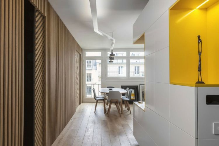 Kinderzimmer & Wohnwand in Gelb und Weiß für Farbakzente ...