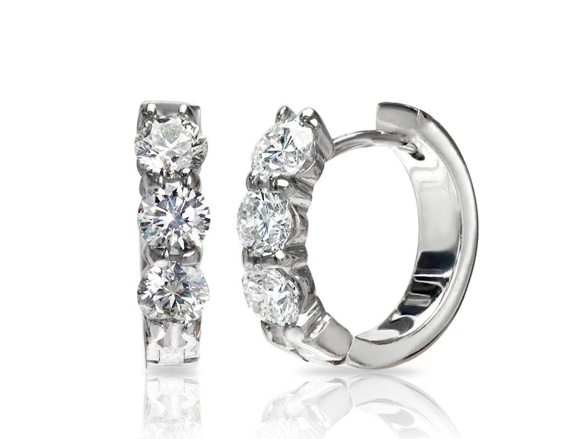 View Details For Jade Trau For Forevermark Diamond Huggie Hoop Earrings