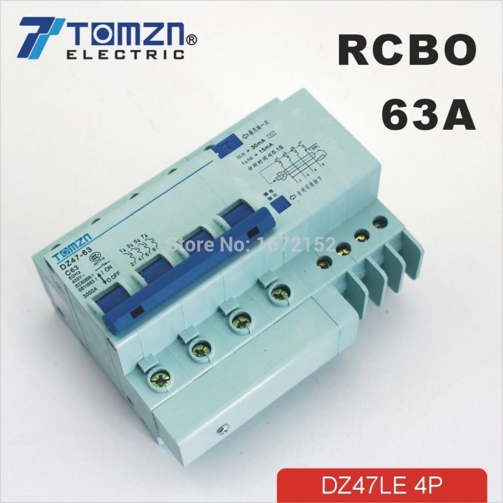 DZ47LE 1P+N 80A D type 230V//400V~ 50HZ//60HZ Residual current RCBO