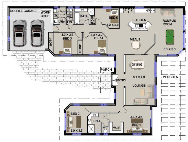 5 Bedroom Home Design Floor Plans Single Level House Plans 4 Bedroom House Plans
