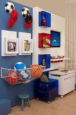 Brinquedoteca decora o quartos quarto de futebol e - Habitaciones infantiles decoradas ...