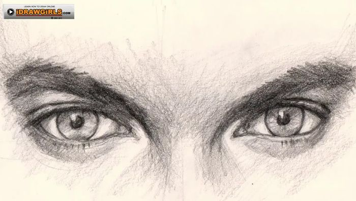 drawing eyes tutorial man How to draw eyes for man ...