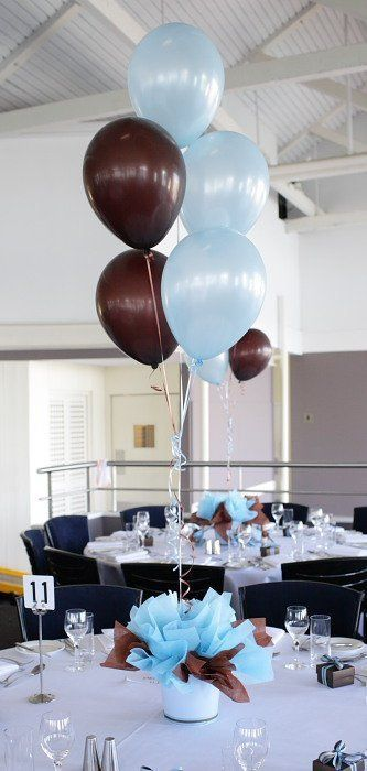 Blue Brown Christening Styling Brown Baby Shower Ideas Baby Shower Decorations Monkey Baby Shower