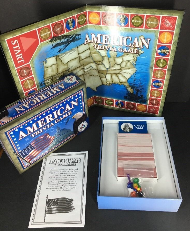 Usa Map Quiz Games%0A Board Game American Trivia    States USA Homeschool Geography History Arts