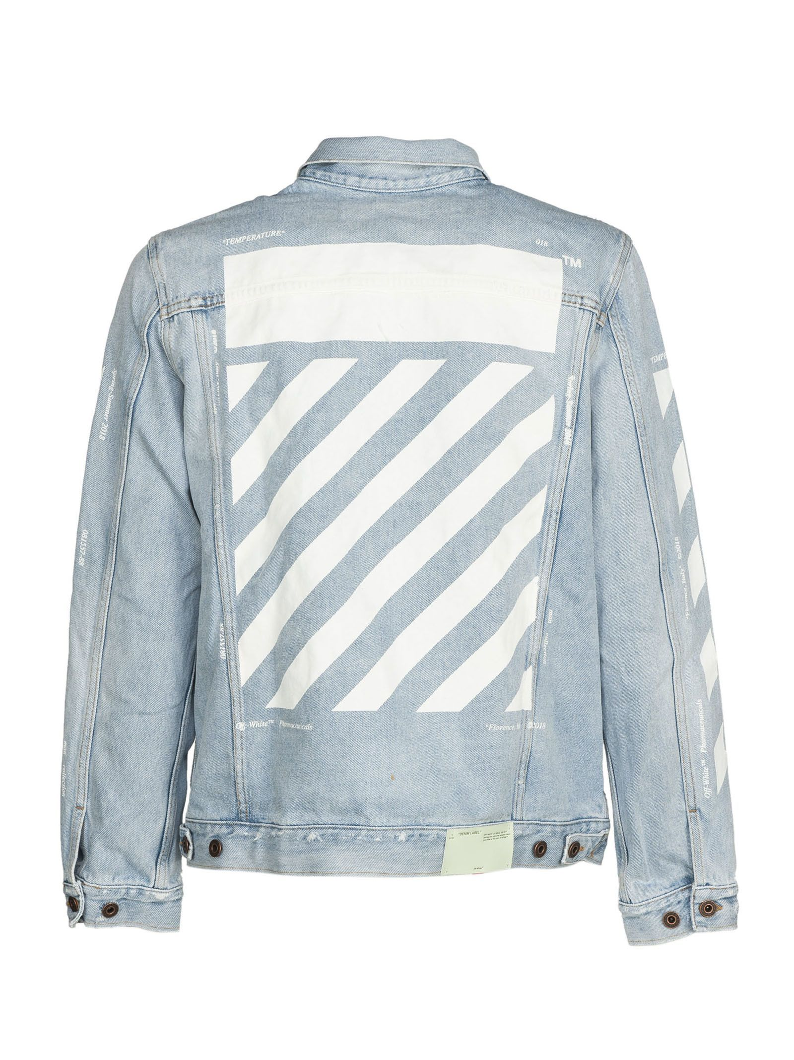 58852b8552a9 OFF-WHITE OFF-WHITE PRINTED DENIM JACKET.  off-white  cloth
