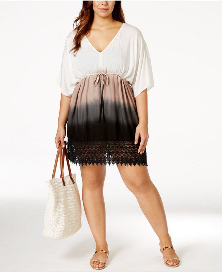 Plus Size Ombr Cover-Up Tunic | Plus Size Fashion ...