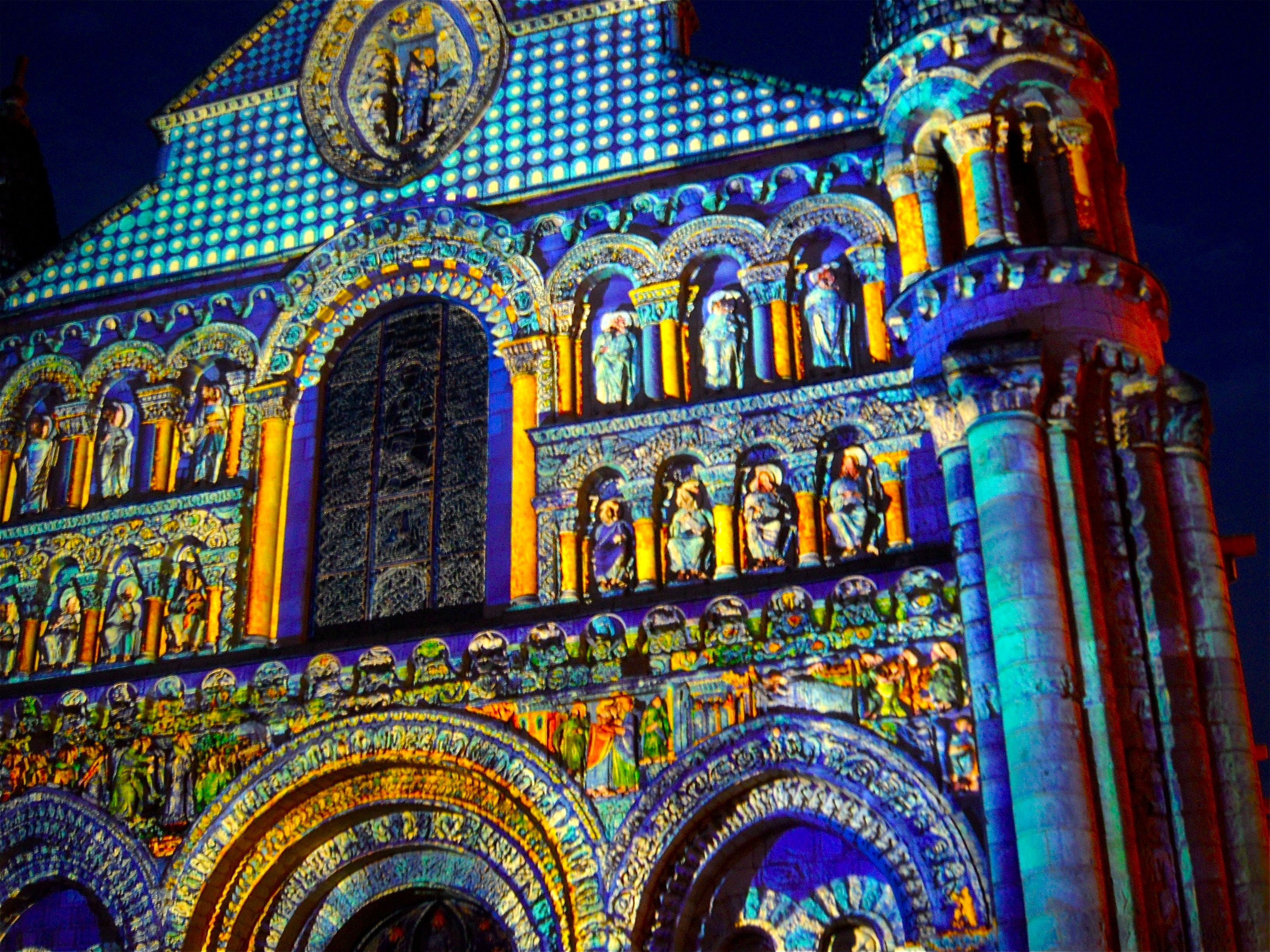 Map Of Poitiers%0A Summer light show at Notre Dame la Grande  Poitiers  France
