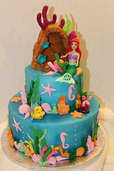 Resultado de imagen para tortas de la sirenita | Pasteles ...