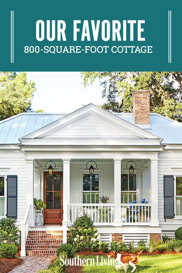 When designing little homes, you run the risk of them looking like playhouses unless you take the proportions really seriously, #800squarefeet #cottageideas #cottagehome #houseplans #southernliving