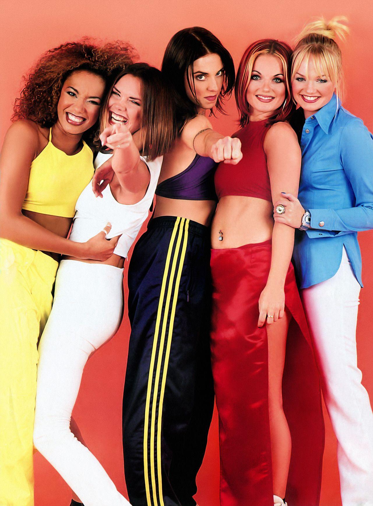 Scary,Baby,Ginger,Posh,Sporty ye   Spice girls, Moda años 90