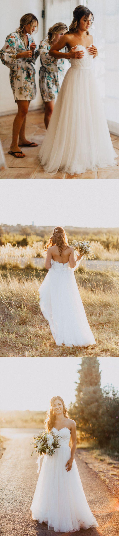 Love This Strapless Long White Wedding Dress So Much Simple Wedding Dress Beach Beach Wedding Dress Wedding Dresses Lace [ 3000 x 667 Pixel ]