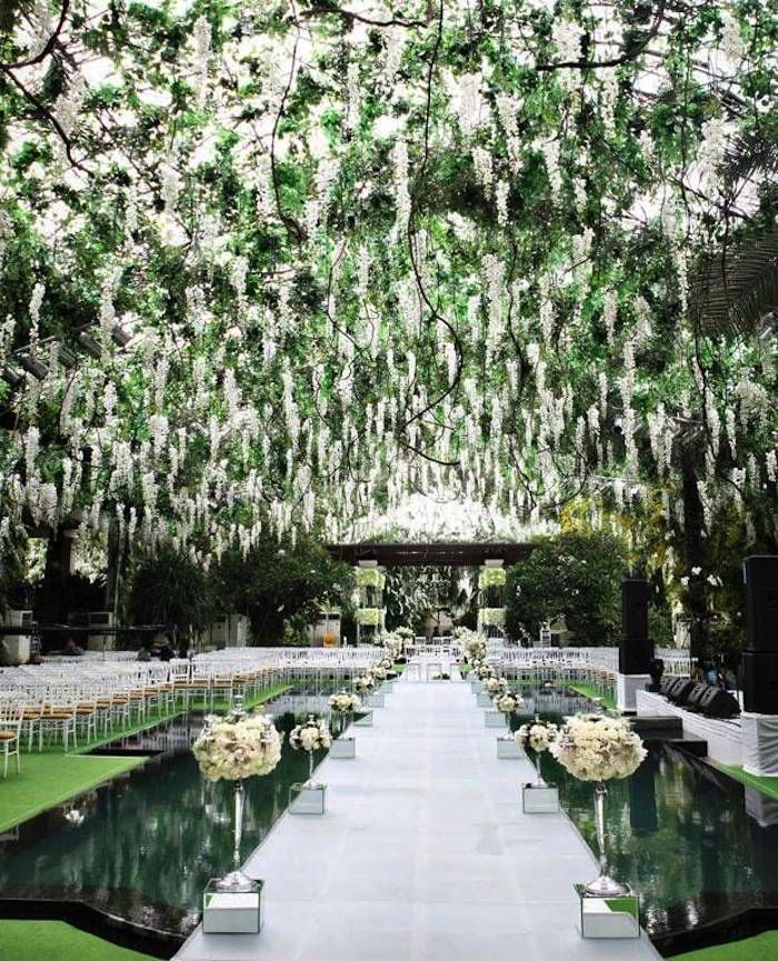 decorating ideas for outside wedding ceremony%0A Go on  be amazed by this wedding ceremony idea  Photo  Axioo Photography via