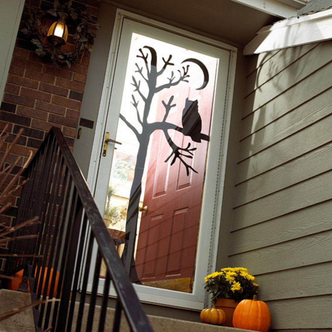 55+ Awesome Door Halloween Decoration Ideas For 2017 Diy creative - Front Door Halloween Decoration Ideas