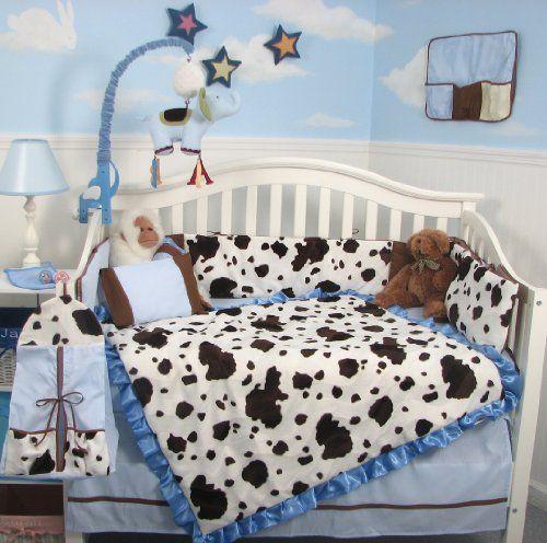 Cute Cow Crib Bedding Sets Baby Boy Rooms Barnyard Nursery