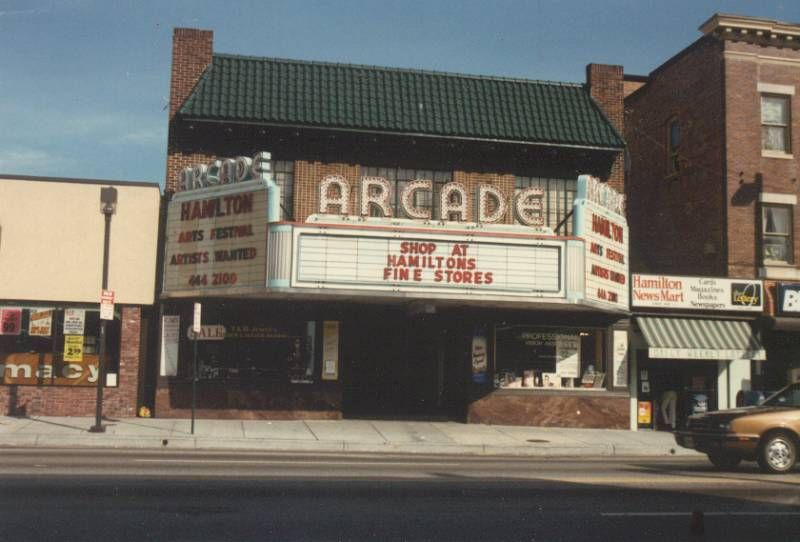 Arcade movie theater this theater had a number of stores