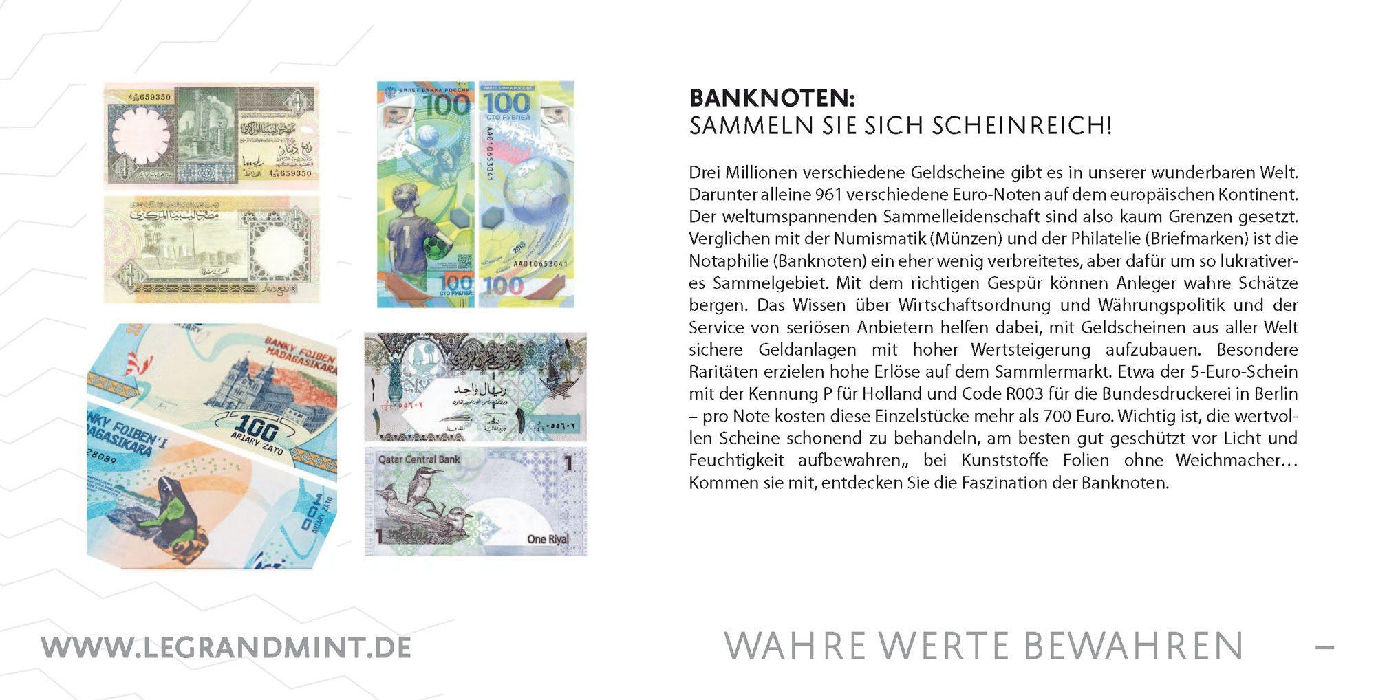 Banknoten Sammeln Sie Sich Scheinreich Geldscheine Sammeln Briefmarken