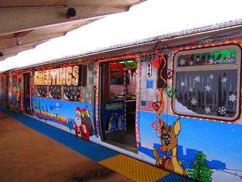 ride the holiday train - Christmas Train Chicago