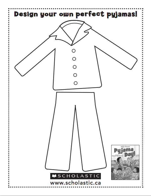 Pajama Coloring Page Coloring Pages For Kids And For Adults Pajama Day Pajama Party Kids Pajama Day At School