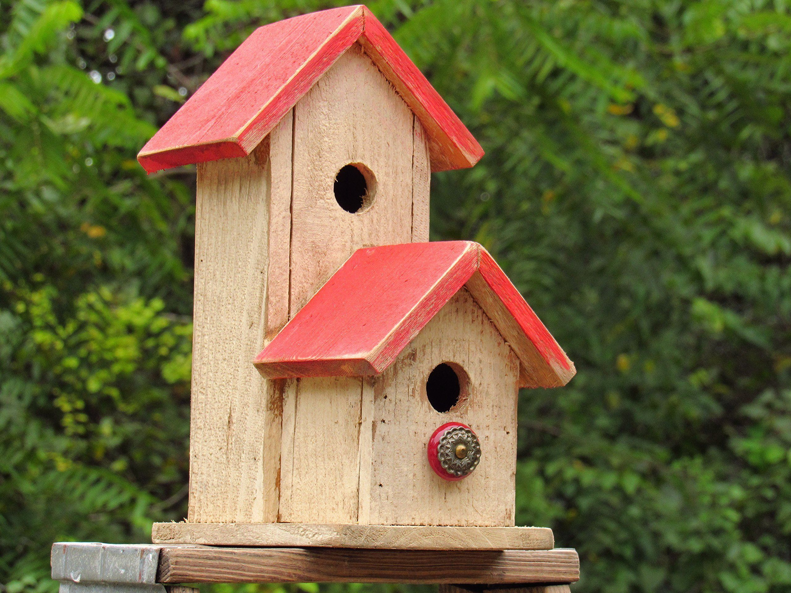 Red and white Purple Martin bird house