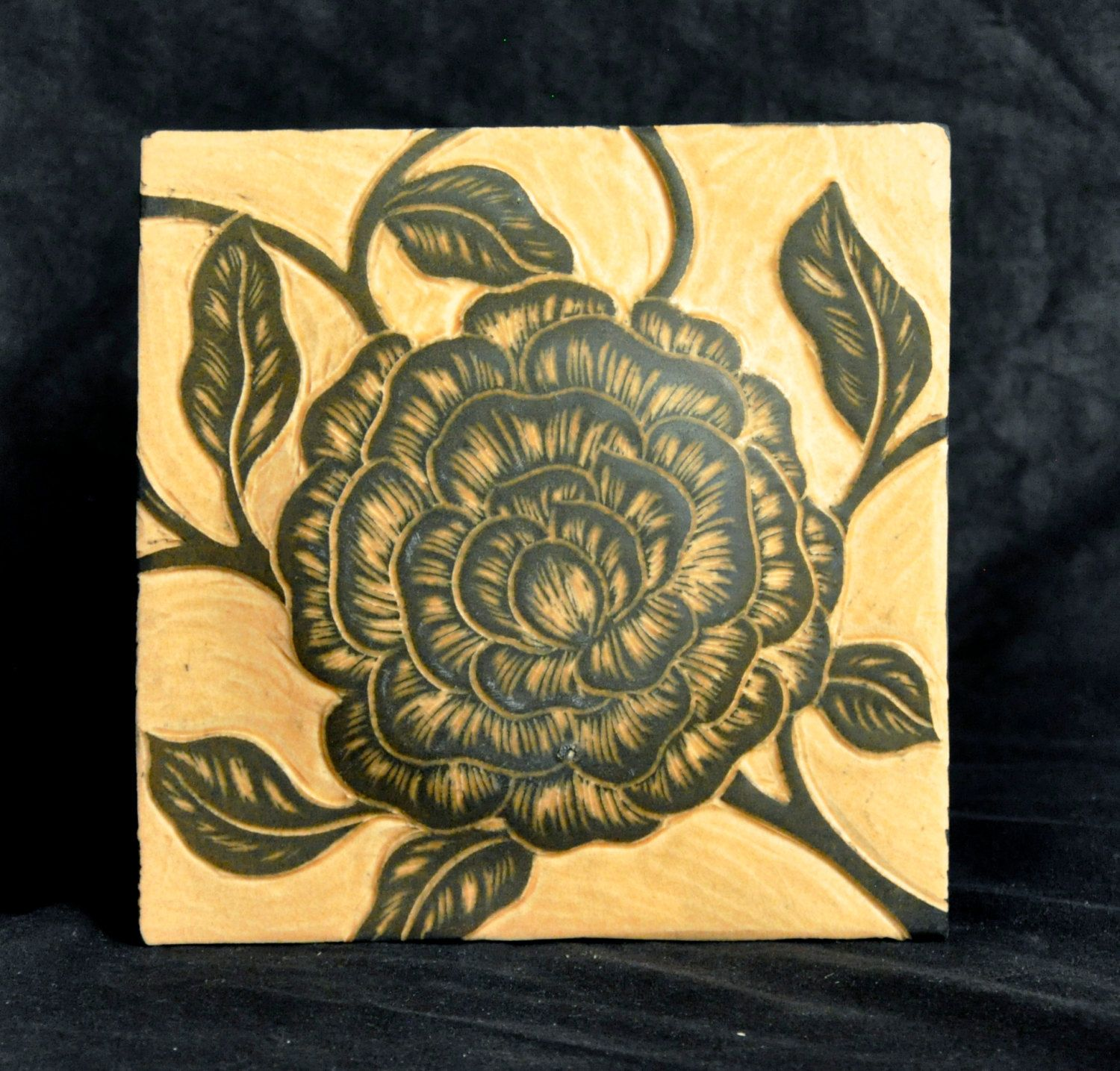 Decorative sgraffito carved porcelain tile 6 square by decorative sgraffito carved porcelain tile 6 square by natalieblakeceramics on etsy handmade tileshandmade ceramicbacksplash dailygadgetfo Gallery